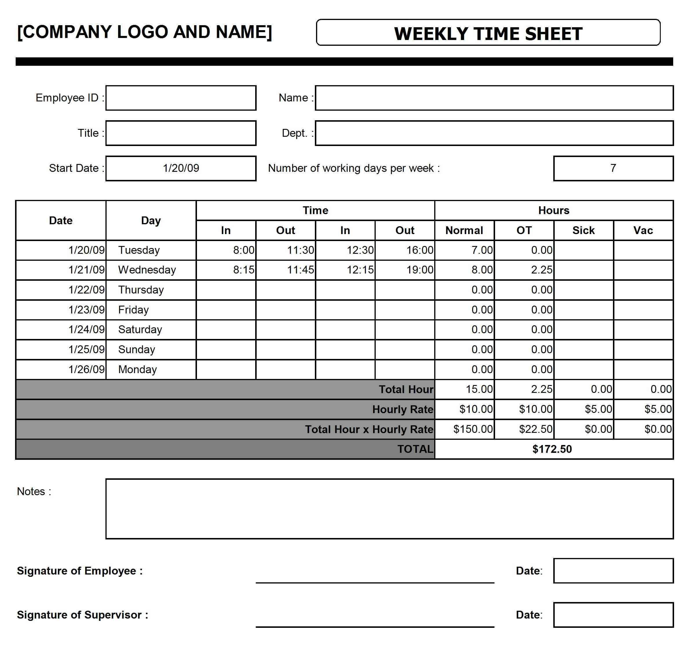Weekly-Time-Sheet