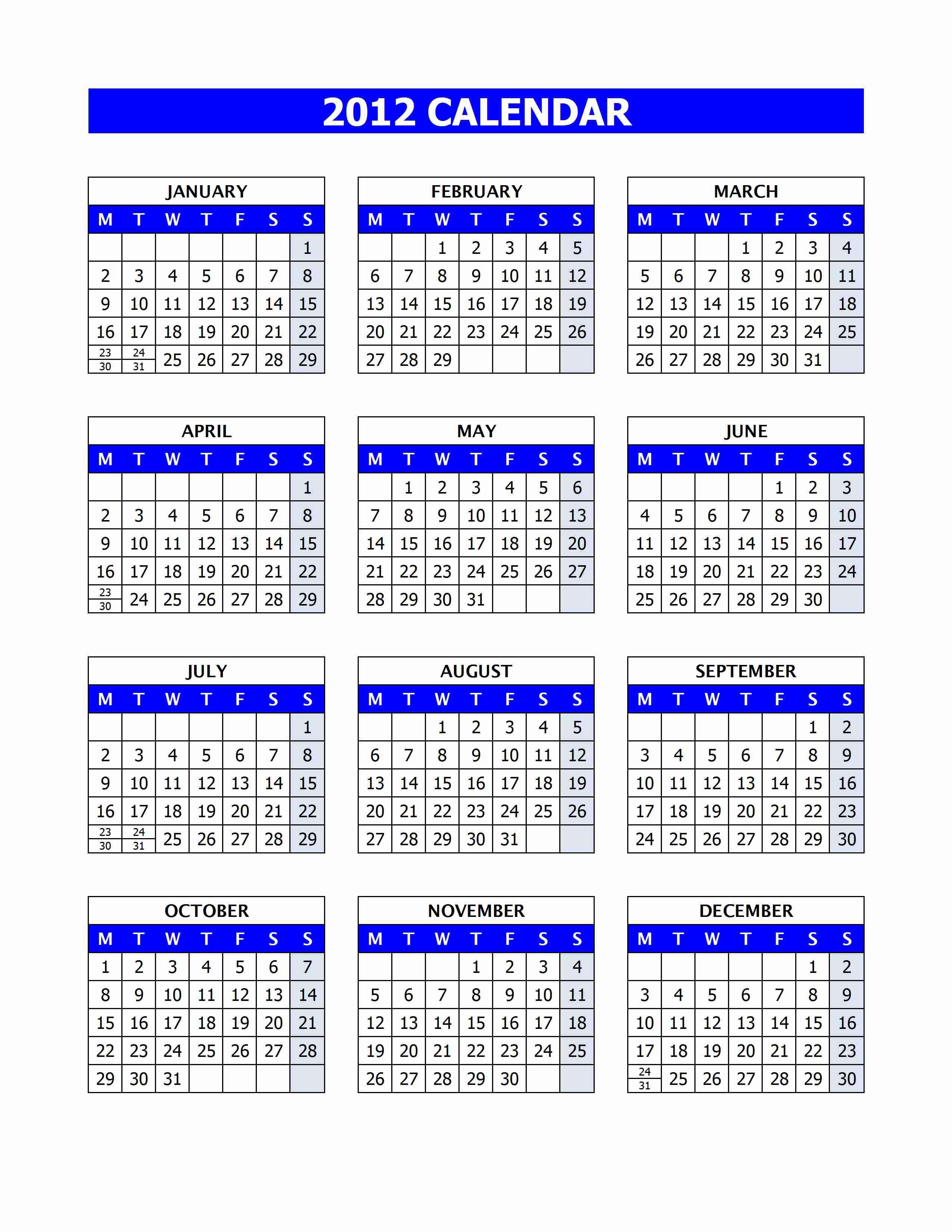 2012-Calendar
