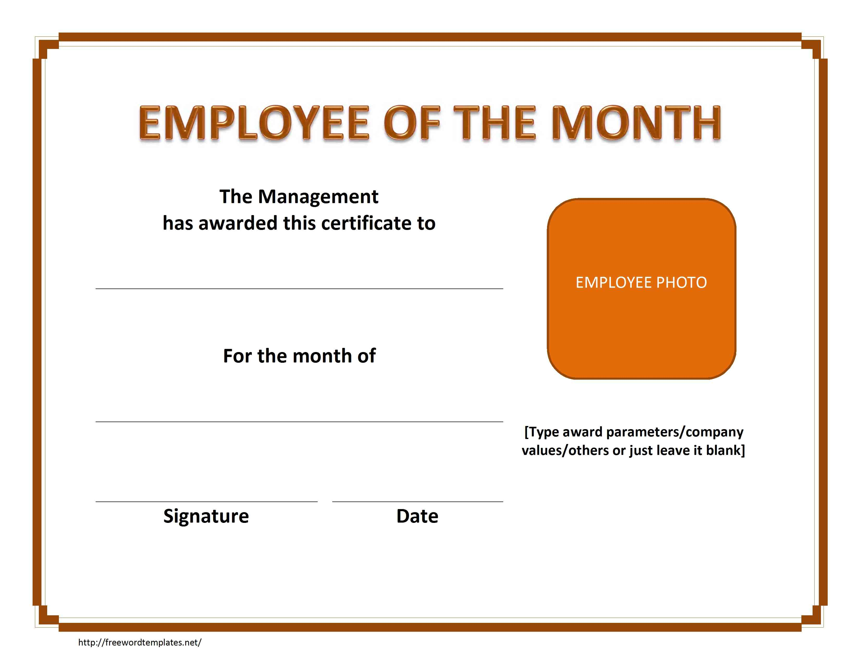107-Employe-of-The-Month-Certificate-With-Photo-Landscape