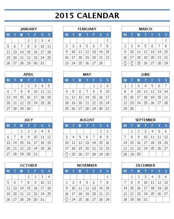 Word 2013 Daily Schedule