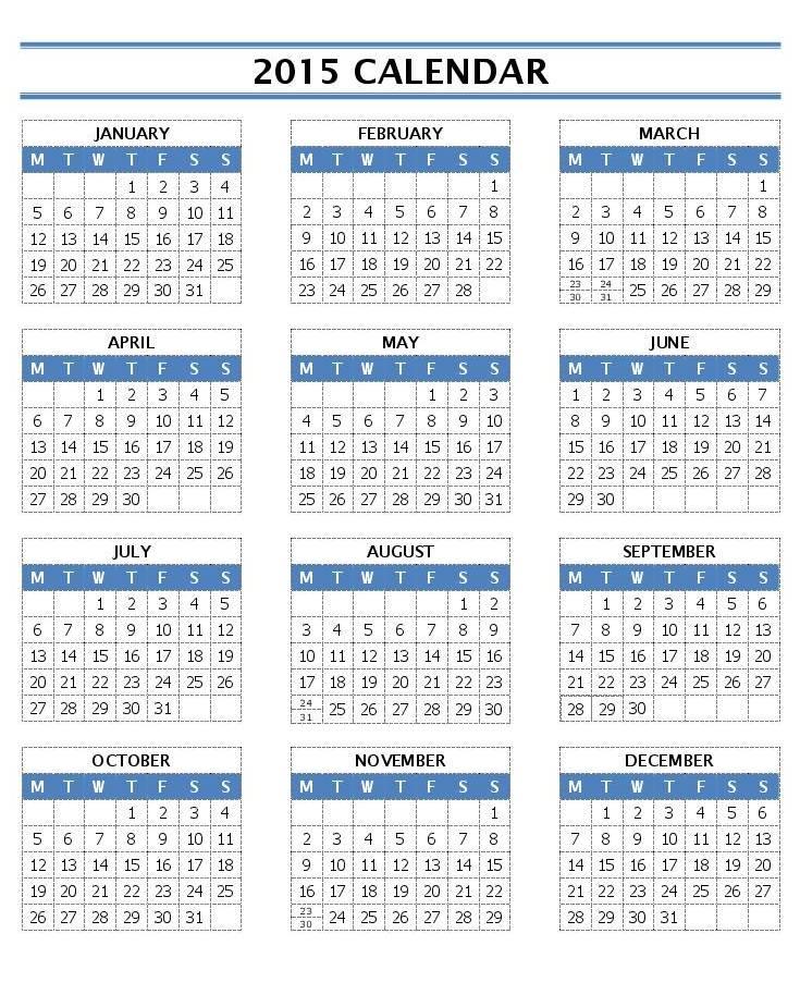 2015-Year-Calendar-word-ot