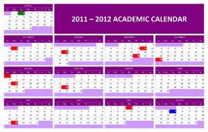 2011-2012 Academic Calendar