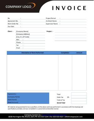 office templates invoice