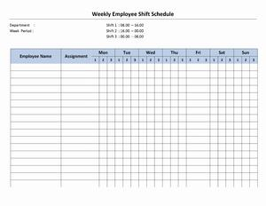 8 Hour Shift Schedule | Open Office Templates