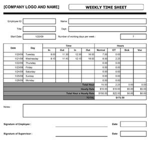 Weekly Time Sheet | Open Office Templates, Invoice Templates  Weekly Invoice Template