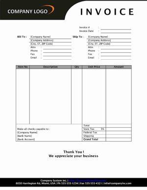 Open Office Invoice Template | Sales Invoice Open Office Templates